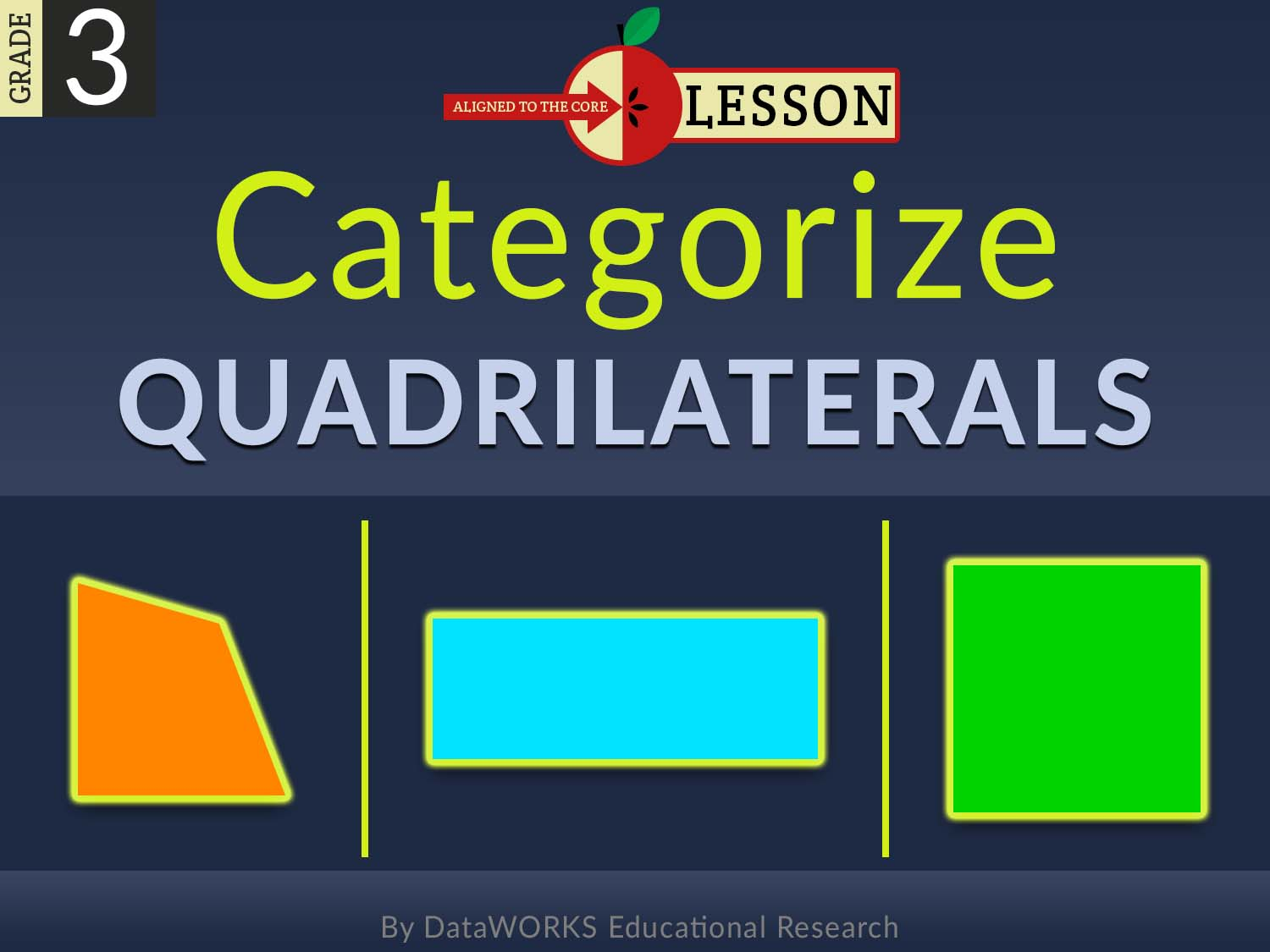 Explicit Direct Instruciton (EDI) Third Grade Lesson Categorize Quadrilaterals