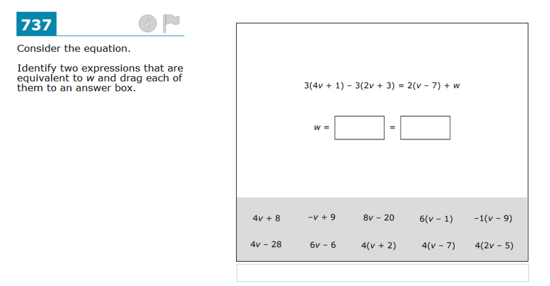 Common Core Assessment Analysis: Fifth Grade Evaluate Expressions