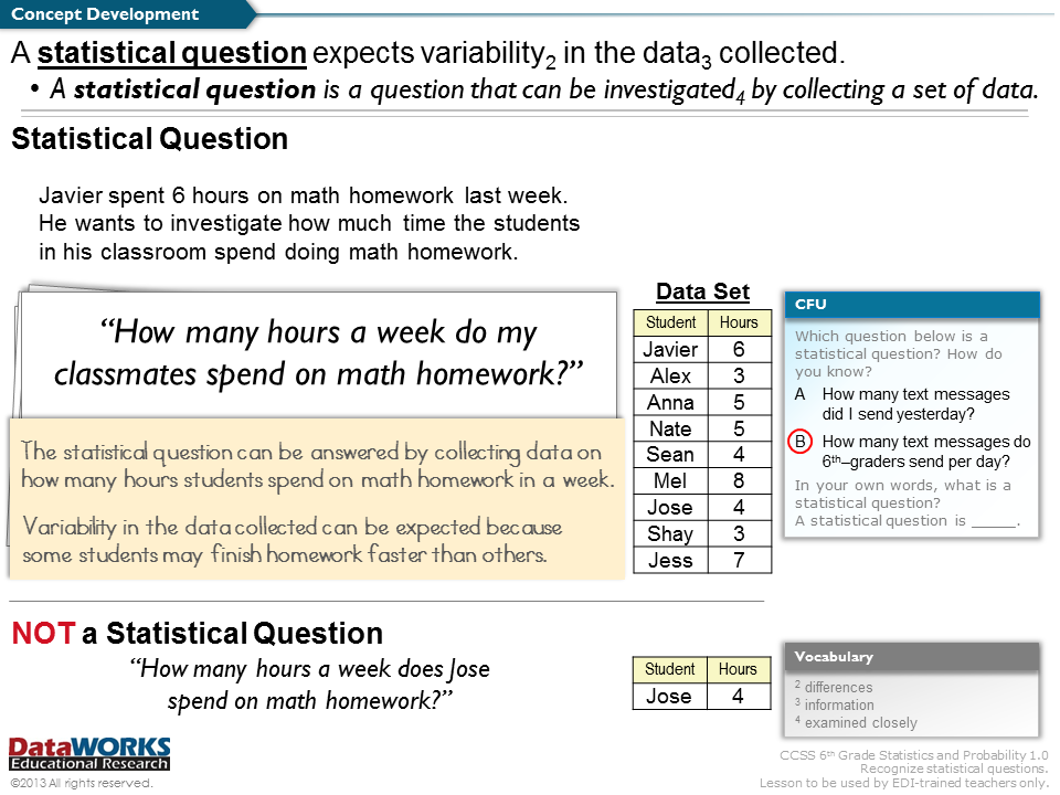 statistics questions Basic statistics questions and answers in other words statistics involves with collection of data and preparing frequency distribution table over given set of data basic statistic question and answer 1 class mark of class interval 50-60 is.