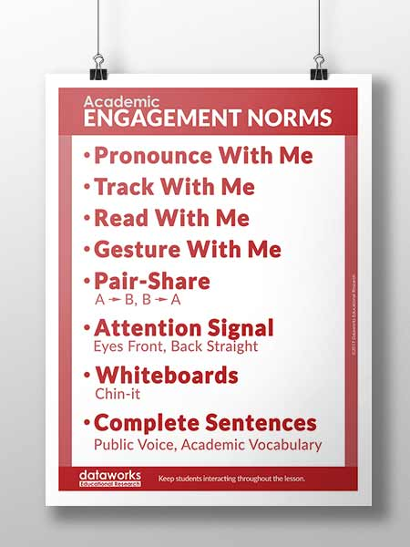 student engagement poster